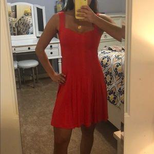 Red flowy dress!